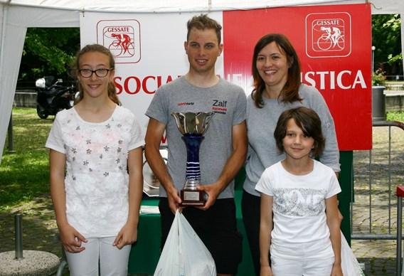 Premiazione Maronese vincitore gara Gessate (Foto Berry)
