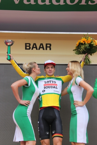 Jurgen Roelandts nuova maglia gialla (Foto JC Faucher)