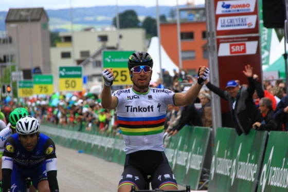 Peter Sagan vince 2^ tappa Tour de Suisse (Foto JC Faucher)