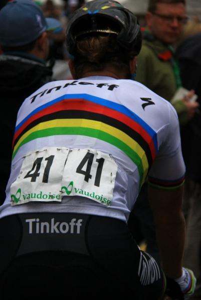 Nr. 41 Peter Sagan di spalle (Foto JC Faucher)
