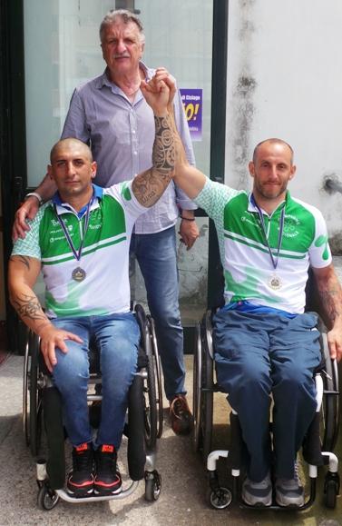 Neo Campioni regionali lombardi Federico Maestroni e Alex D'Onofrio col presidente VC Sommese Cav. Silvio Pezzotta a Cislago