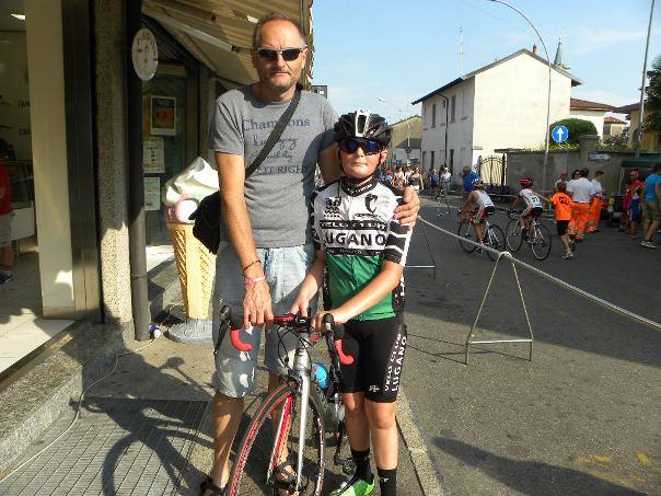 12.07.15 - Chiandotto Gioele col padre Sabino a Rescaldina (Foto Nastasi)