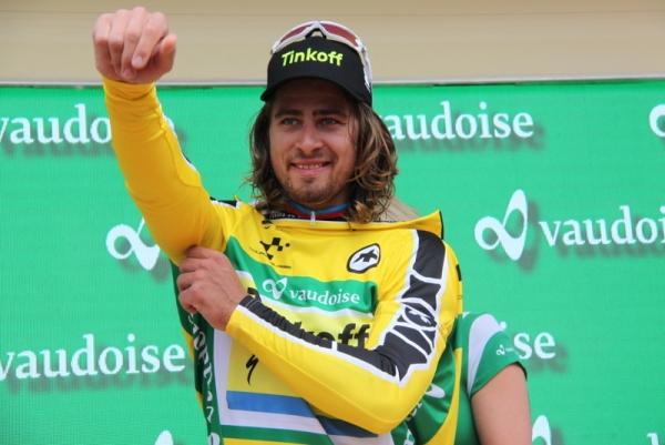 Sagan veste la maglia oro (Foto JC Faucher)