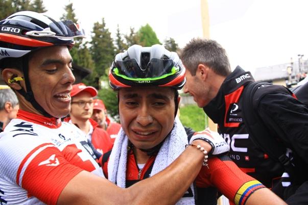 Il pianto di Atapèiuma dopo la vittoria (Foto JC Faucher)