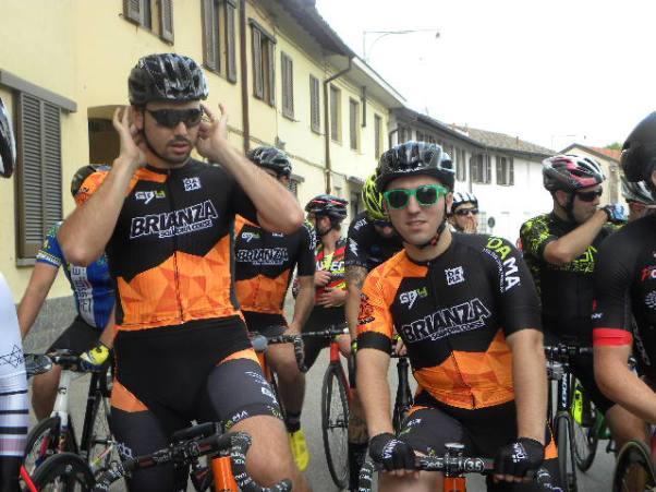 Mirko Mauri a destra qui con Giorgio Brambilla a Casterno (Foto di : Nastasi)