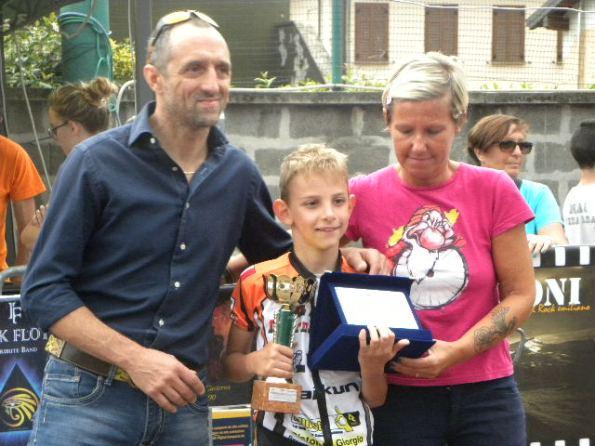AS Besnate premiata per il tramite dell'atleta Luca Brancaleon (Foto Nastasi)