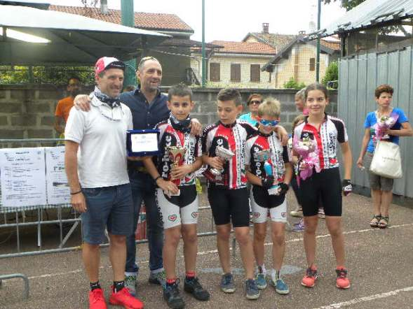 Team Pro Bike Junior squadra vincitrice classifica a punti per società^ (Foto Nastasi)