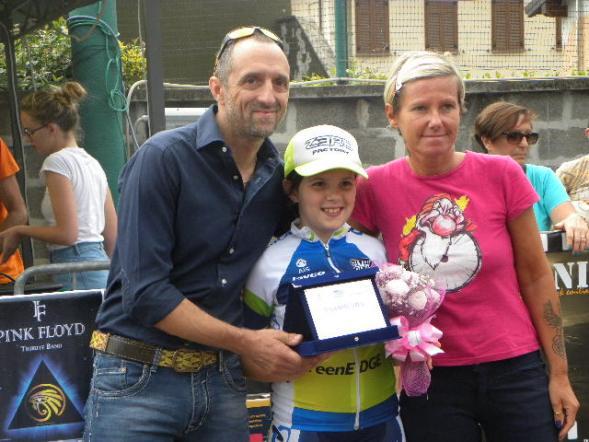 Ju Green premiata attraverso l'atleta Giovanna Rogora (Foto Nastasi)