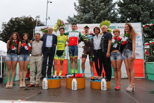 Podio Tricolore Juniores a Solbiate Arno (Foto di Antonio Pisoni)