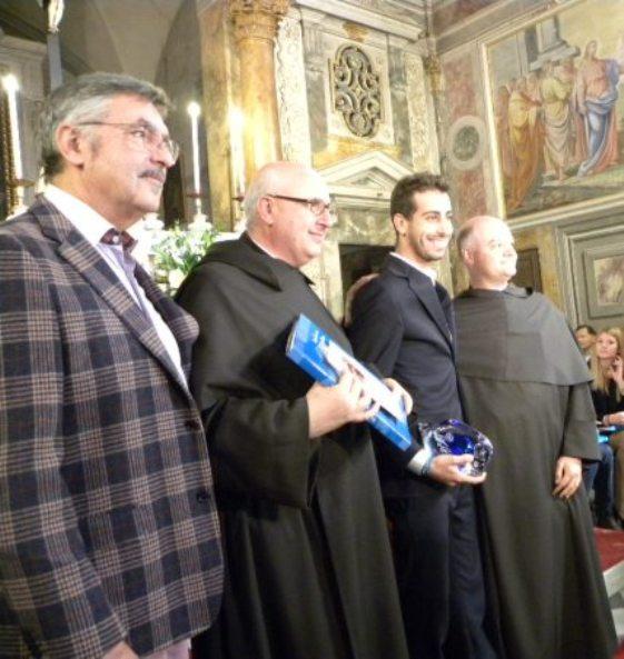 Da sx, Troni, Padre Agostino, Aru e Padre Raffaele (Foto Miserocchi)