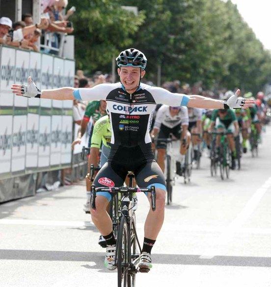 Consonni, primo piano sprint vittorioso (Foto Pisoni)