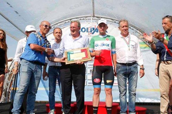 Premiazione Consonni e Colleoni (Foto Pisoni)