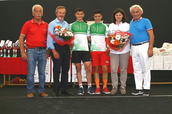 D sx Milone, esordi. 1^ anno e Montoli, 2^ anno, i due neo campioni regionali lombardi (Foto Berry)