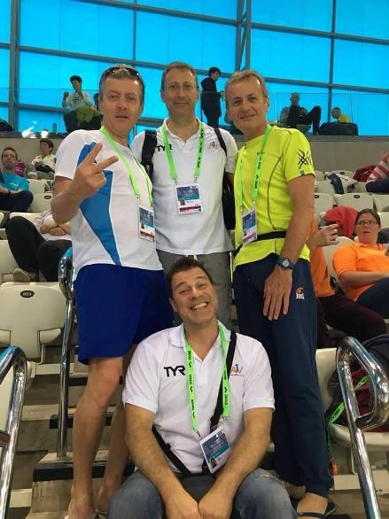 Un gruppo di nuotatori castanesi a Londra