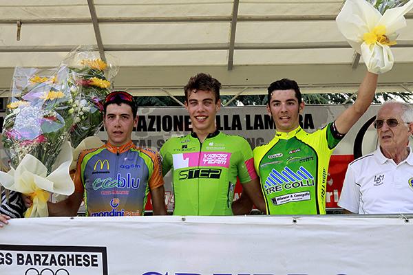 Da sx Mascalzoni, Bertaina e Moro, Podio Barzago (Foto Kia)