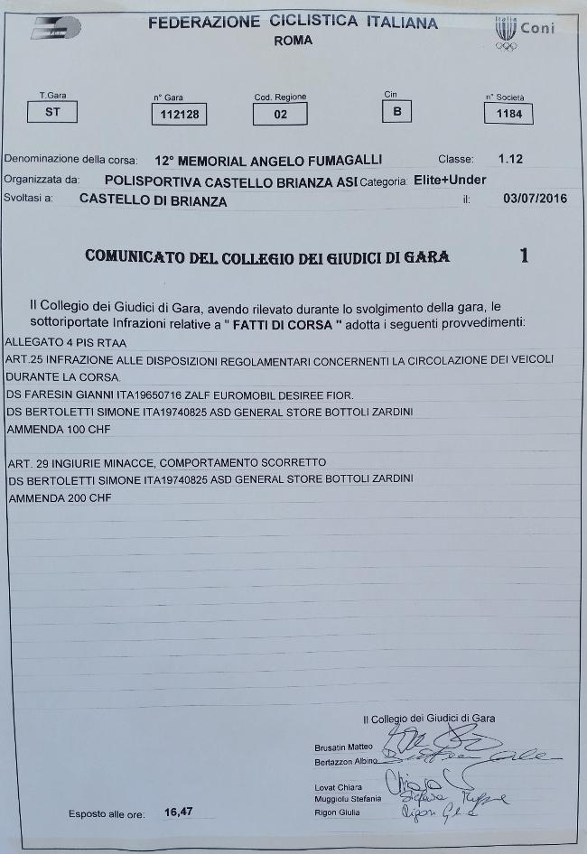03.07.16 - COMUNICATO COLLEGIO GIURIA FCI
