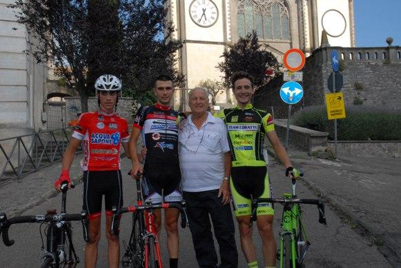 Il presidente Morucci con i primi 3 classificati