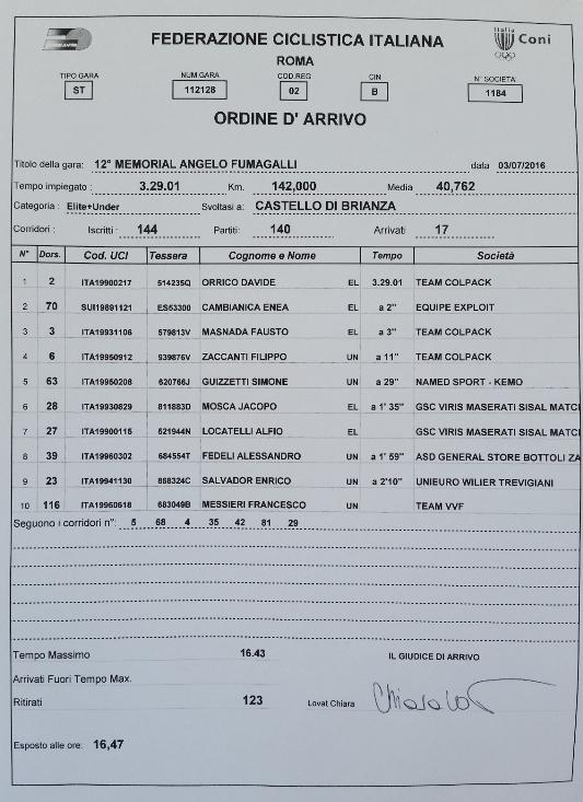 03.07.16 - ORDINE ARRIVO