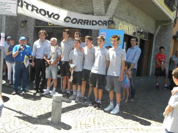Progetto Ciclismo Rodengo, la squadra del vincitore Andrea Berzi (Foto Nastasi)