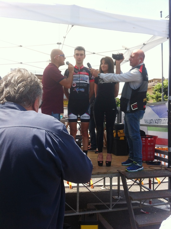 Il vincitore Alessandro Monaco