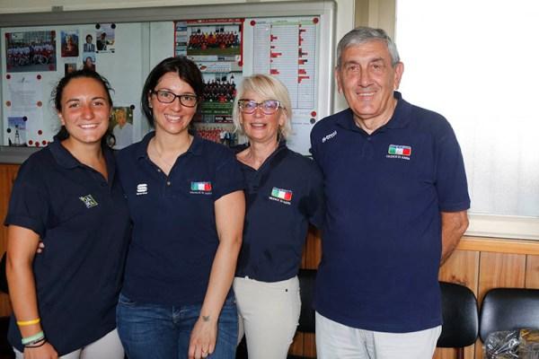 da sx, Tonelli, Rubagotti, Sordi e presidente Falvoldi Giuria Fci Ornago (Foto Pisoni)