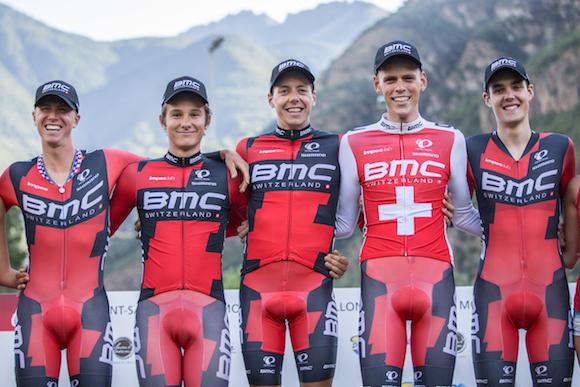 BMC squadra vincitrice cronosquadre apertura 53^ Giro della Valle D'Aosta