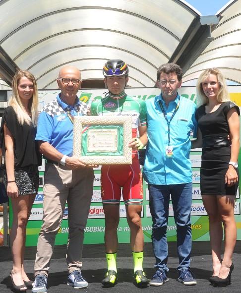 Il campione d'Italia Juniores Mattia Bevilacqua (Rodella)