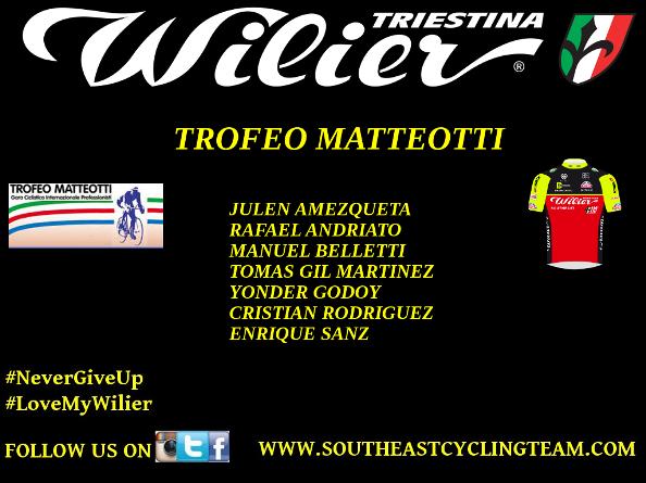 16.07.16 - 69^ Trofeo Matteotti - Formazione