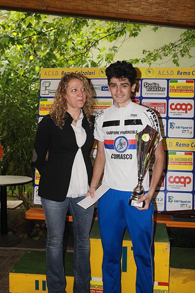 Premiazione di Davide Aldegheri (Foto Kia)