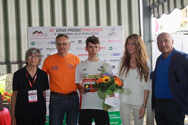 Premiazione di Alessandro Fancellu (Foto Kia)
