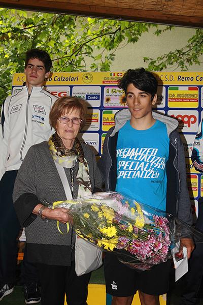 Premiazione di Parisini (Foto Kia)