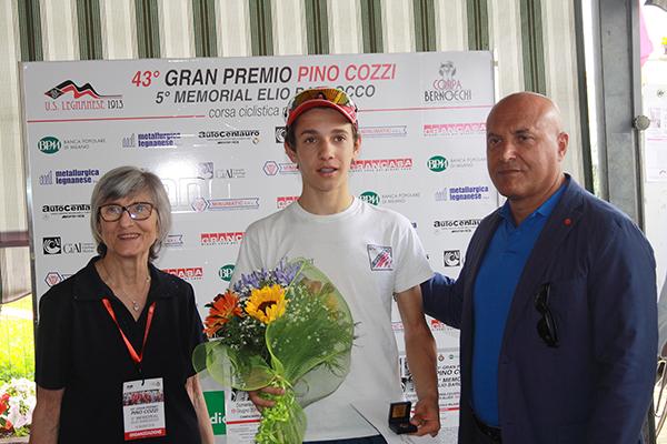 Altra premiazione per Andrea Piccolo (Foto Kia)