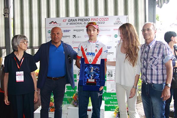 Andrea Piccolo premiato quale campione milanese (Foto Kia)