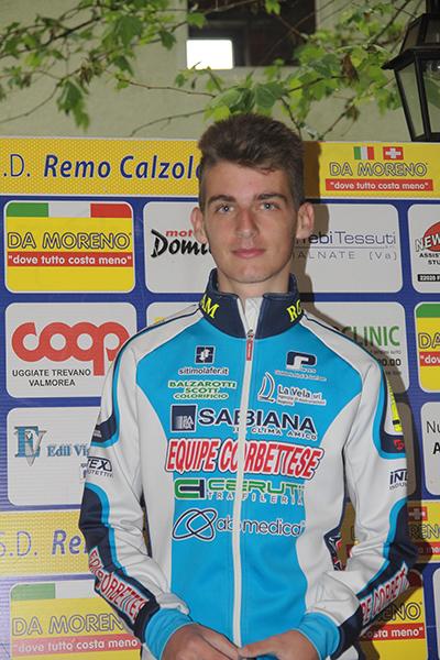 Mattia Ro del'Equipe Corbettese, 3^ classificato (Foto Kia)