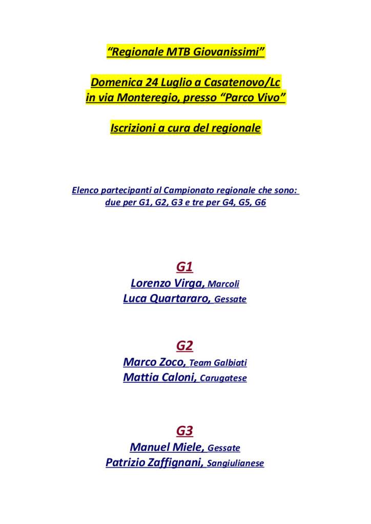 24.07.16 - Convocati Camp Reg MTB a Casatenovo - 1