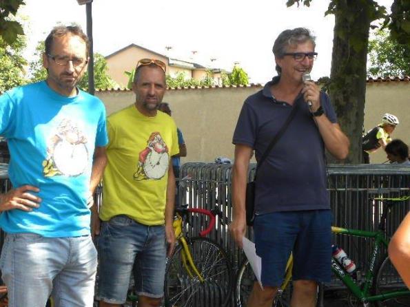 Andrea e Paolo Noè con Teresio Mandonico (Foto Nastasi)