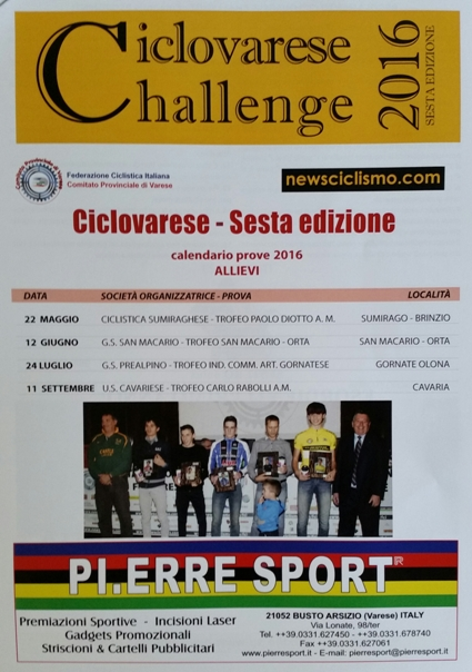 24.07.16 - lOCANDINA CHALLANGE CICLOVARESE