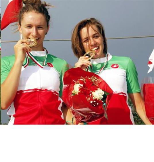 Le due atlete dell'Emilia-Romagna vincitrici del Titolo Tricolore (Photobicicailotto)