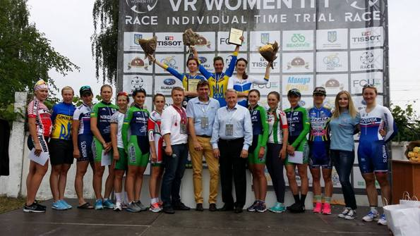 Donne sul podio finale