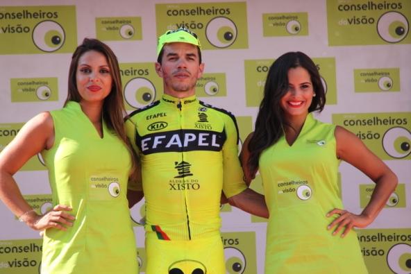 Daniel Mestre vincitore tappa sul podio (JC Faucher)