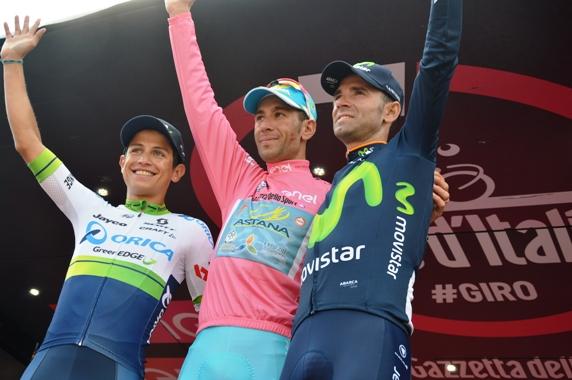 Podio finale 99^ Giro d'Italia (Foto Mule)