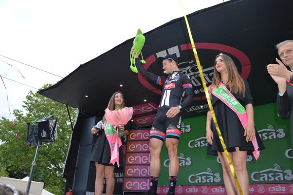 Arndt proclamato vincitore della tappa (Foto Mule)