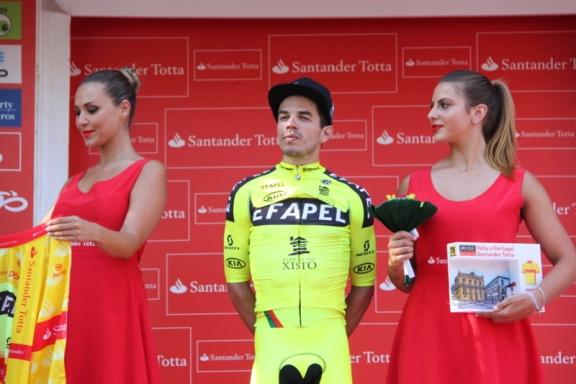 Daniel Mestre in attesa di vestire la maglia gialla (Foto Jean Claude Faucher)