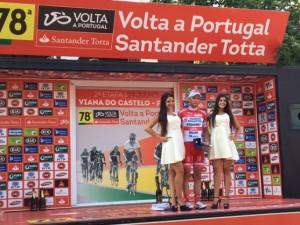 Francesco Gavazzi - podio 2^ tappa vincitore