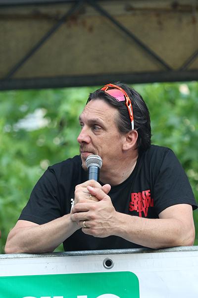Danilo Gioia commentatore della gara (Foto Kia)