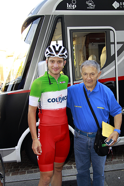Simone Consonni all'esordio in maglia Tricolore (Foto Kia)