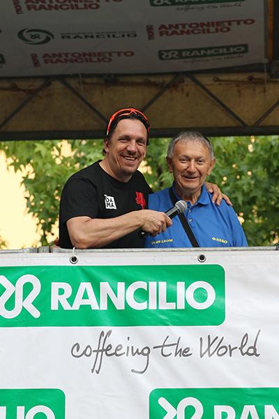 Danilo Goia Commentatore televisivo della corsa (Foto Kia)