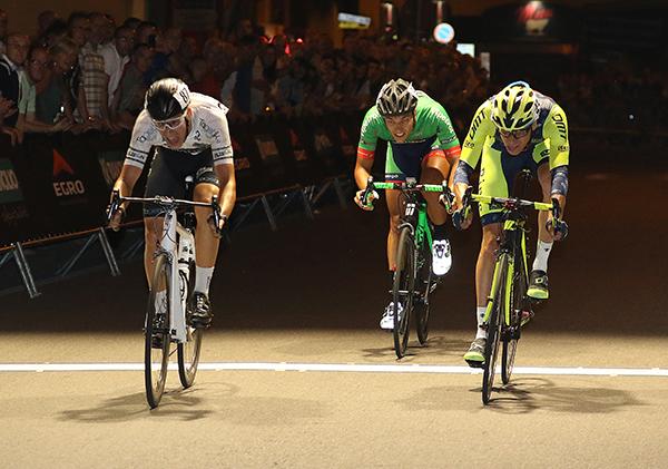 Alban precede Moggio e Duranti sul traguardo del 33^ Trofeo Antonietto Rancilio (Foto Kia)