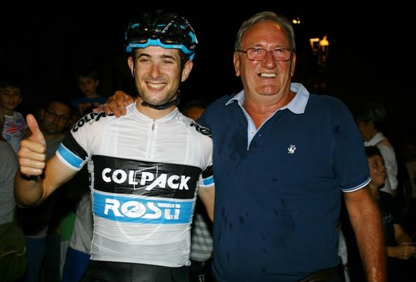 Riccardo Minali con Beppe Colleoni (Foto Berry)