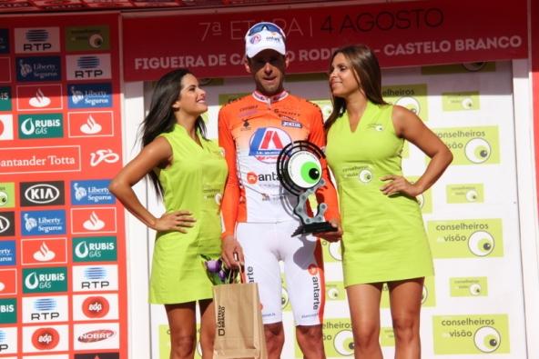 Premiazione corridore del Team Antarte (Foto Jean Claude Faucher)